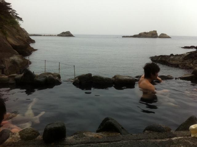 極上露天風呂なう。ひーはーw